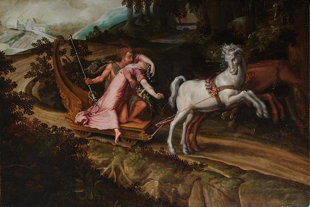 Attributed to Paolo Fiammingo dei Franceschi (Antwerp 1540-1596 Perugia) The Rape of Proserpina