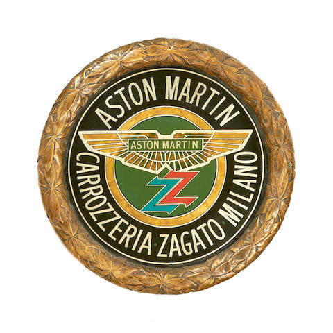 An 'Aston Martin Zagato' decorative wall plaque,
