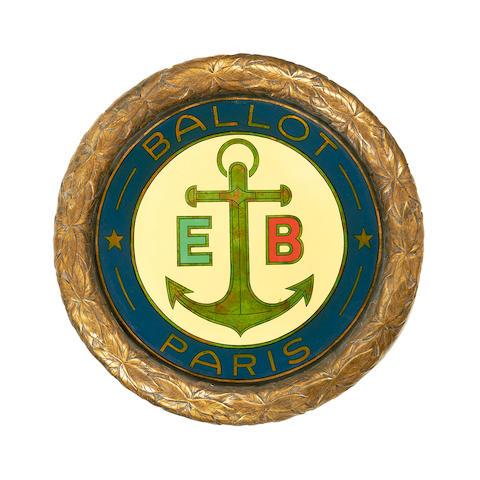 A Ballot car badge display roundel,