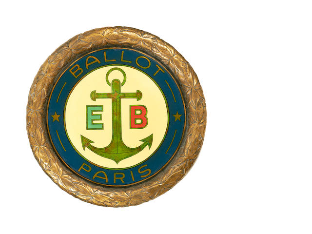 A Ballot car badge display roundel,