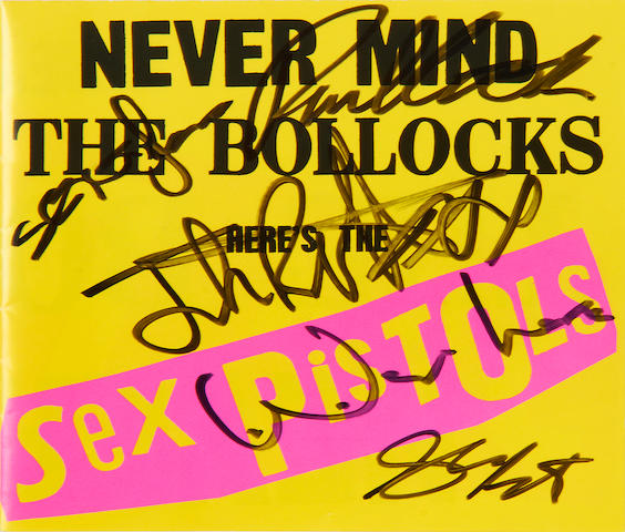The Sex Pistols: A set of autographs, comprising: