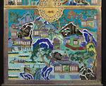 An extremely rare gilt-bronze and cloisonné-enamelled document chest Qianlong