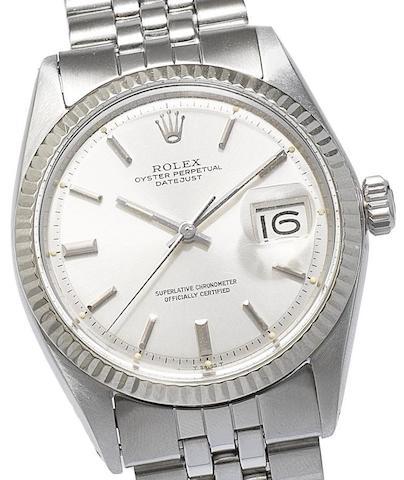 Rolex. A stainless steel automatic calendar bracelet watchDatejust, Ref:1601/4, Circa 1967