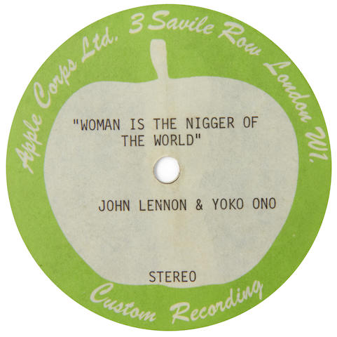 John Lennon: An acetate recording of the unreleased 'Woman Is The Nigger Of The World'/'Sisters O Sisters' by John Lennon