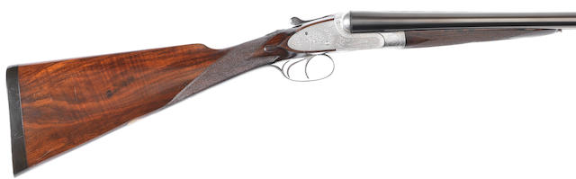 A 12-bore (2¾in) sidelock ejector gun by Henry Atkin (From Purdey's), no. 702 In its brass-mounted oak and leather case