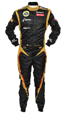 A signed Kimi Raikkonen race suit, by OMP,