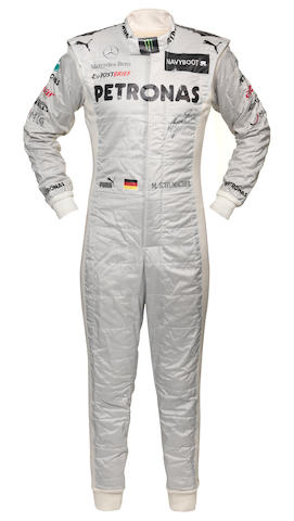 A signed Michael Schumacher race suit, 2012 season,