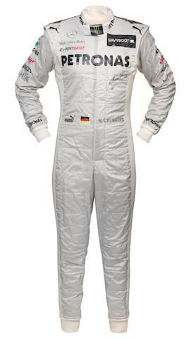 schumacher race suit + COA