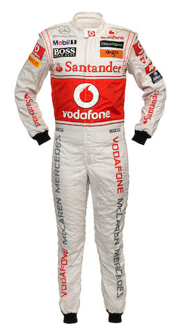 A signed Lewis Hamilton race suit worn at the 2011 Turkish Grand Prix,
