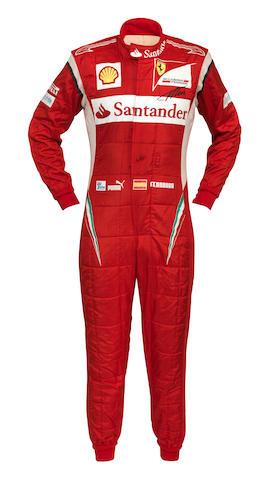 Alonso signed suit 2011 + Bag + COA