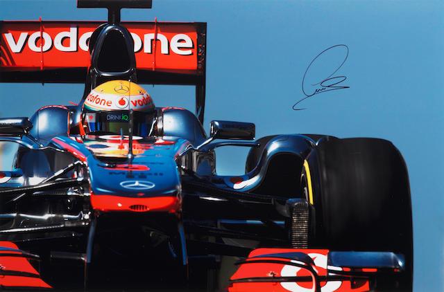 Hamilton signed print