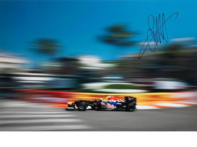 Vettel signed print