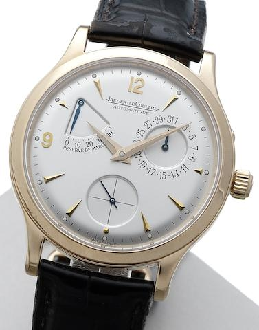 Jaeger-LeCoultre. A fine 18ct rose gold automatic calendar wristwatchMaster Control Grande Taille, Ref:140240932, Movement No.0001101, Sold 8th October 2000