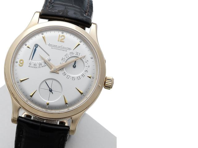 Jaeger-LeCoultre. A fine 18ct rose gold automatic calendar wristwatch  Master Control Grande Taille, Ref:140240932, Movement No.0001101, Sold 8th October 2000