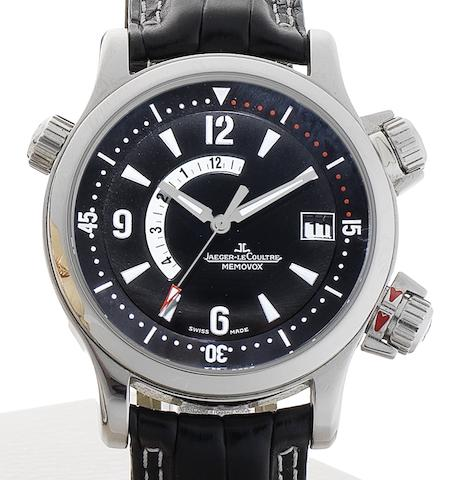 Jaeger-LeCoultre. A stainless steel automatic calendar wristwatch with power reserveMaster Compressor Memovox, Ref:146.8.97/1/1708470, Sold 9th August 2007