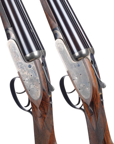 A pair of 12-bore self-opening sidelock ejector guns by J. Purdey & Sons, no. 18237/8 Built for Sir William Eden