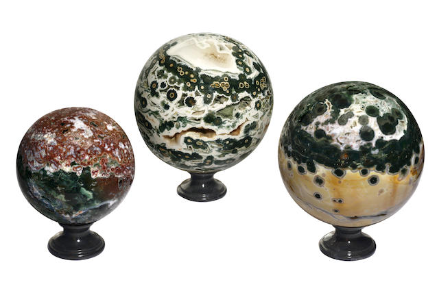 Three Jasper spheres,