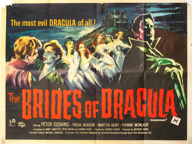 The Brides Of Dracula, Hammer Films, 1960,