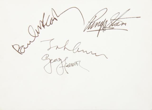 The Beatles: A rare autographed 1967 Beatles publicity photograph,