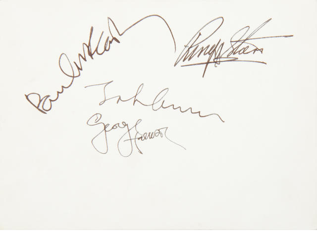 The Beatles: A rare autographed 1967 Beatles publicity photograph,