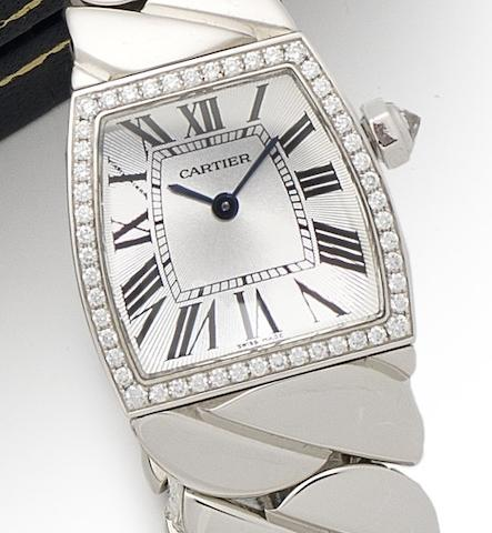 Cartier. An 18ct white gold diamond set bracelet watchLa Dona, Ref:2905, Case No.88581LX, Circa 2010