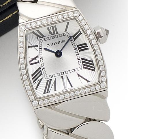 Cartier. An 18ct white gold diamond set bracelet watch La Dona, Ref:2905, Case No.88581LX, Circa 2010