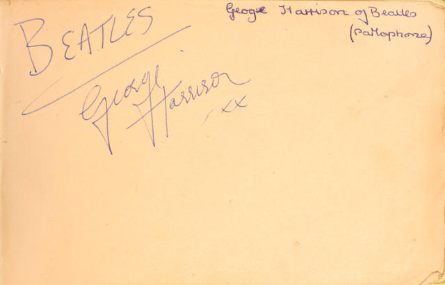 The Beatles: an autograph album signed by George Harrison and Paul McCartney, 1960s,