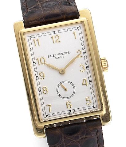 Patek Philippe. A fine manual wind rectangular wristwatchRef:5009, Case No.2989071, Movement No.1852143, Circa 1992