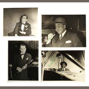 A collection of photographs jazz musicians and actresses by Keston Pelmore, majority 1930s,