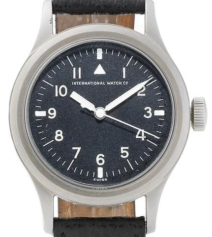 IWC. A stainless steel manual wind centre seconds pilot's wristwatch Mark 11, Circa 1944