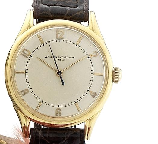 Vacheron Constantin. A fine 18ct gold automatic centre seconds Movement No.457488, Case No.317756, Circa 1944