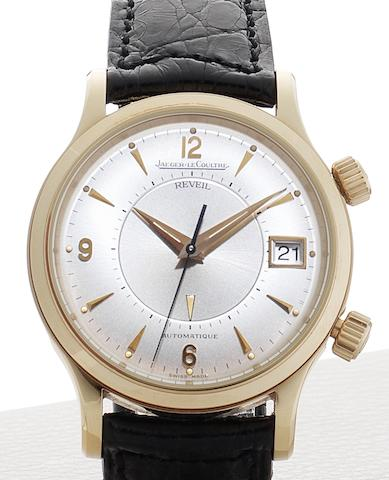 Jaeger-LeCoultre. A fine 18ct rose gold automatic alarm calendar wristwatch together with fitted box and guarantee papers Master Control, Ref:141.2.97, Sold 30th of September 1995