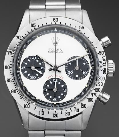 Rolex. A fine and rare stainless steel chronograph bracelet watch 'Paul Newman' Oyster Cosmograph Daytona, Ref:6262, Serial No.255****, Circa 1970
