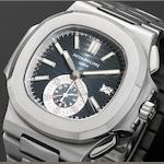 Patek Philippe. A fine stainless steel automatic flyback chronograph calendar bracelet watch Nautilus, Ref:5980/1A, Case No.4463666, Movement No.3668942, Sold 18th December 2008