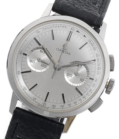 Omega. A stainless steel manual wind chronograph wristwatch De Ville, Case No.10100963, Movement No.19831477, Circa 1965