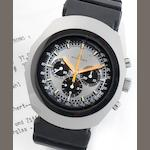 Bucherer. A stainless steel oversized chronograph wristwatch Circa 1975