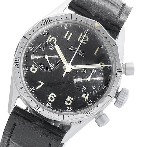 Junghans. A chrome finished manual wind chronograph military wristwatchCirca 1960