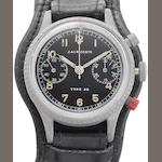 J.Auricoste. A chrome plated manual wind chronograph wristwatch Type 20, Circa 1960