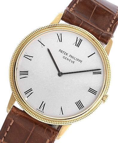 Patek Philippe. A fine 18ct gold automatic wristwatchRef:3590, Case No.2737959, Movement No.1283568, Circa 1974