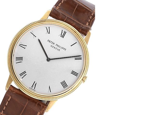Patek Philippe. A fine 18ct gold automatic wristwatch Ref:3590, Case No.2737959, Movement No.1283568, Circa 1974