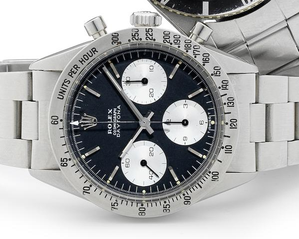 Rolex. A fine stainless steel manual wind chronograph bracelet watchCosmograph, Ref:6239, Case No.1192***, Circa 1963
