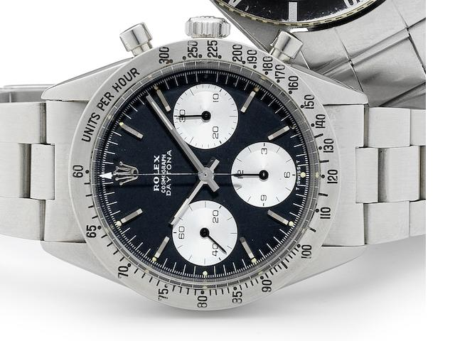 Rolex. A fine stainless steel manual wind chronograph bracelet watch Cosmograph, Ref:6239, Case No.1192***, Circa 1963