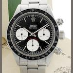 Rolex. A fine stainless steel manual wind chronograph bracelet watch with Rolex box Oyster Cosmograph Daytona, Ref:6263, Serial No.4137***, Circa 1974