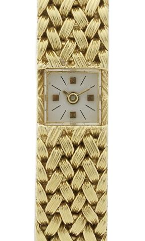 Vacheron & Constantin. A lady's 18ct gold back winding bracelet watchCirca 1960