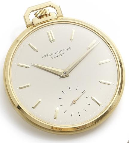 Patek Philippe. A fine and interesting 18ct gold manual wind open face pocket watch, belonging to the former Italian Chief of Police, Salvatore di Stefano, together with Extract from Archives and photographic ephermera Case No.2622575, Movement No.931558, Sold June 17th, 1960