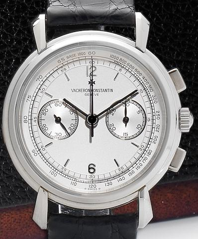 Vacheron Constantin. A fine platinum manual wind chronograph wristwatch Ref:47101, Case No.631763, Circa 1990