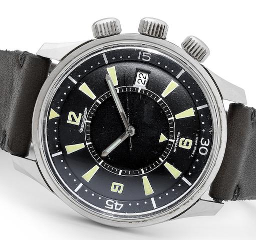 Jaeger-LeCoultre. A rare stainless steel automatic calendar centre seconds wristwatch with alarmPolaris, Circa 1968