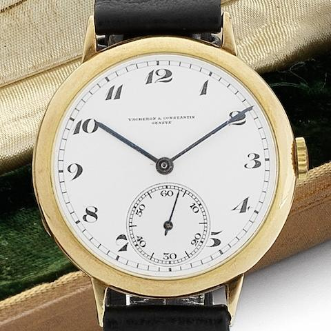 Vacheron & Constantin. A fine early 18ct gold manual wind wristwatchMovement No.360067, Circa 1925