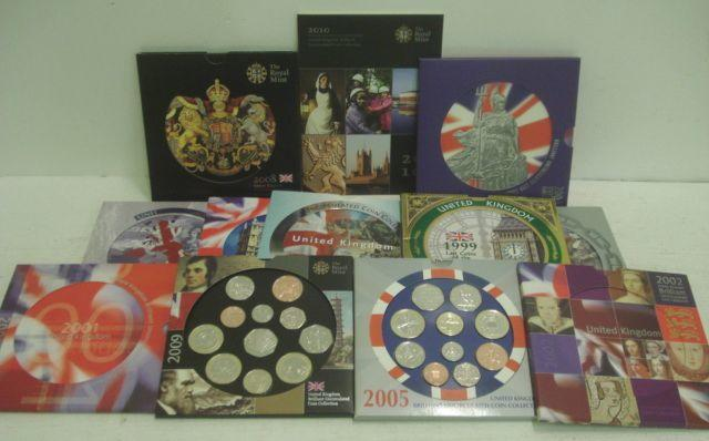 United Kingdom Brilliant Uncirculated Coin Collections, 1983-2010, all in original boxes.