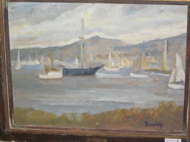Ronald Ossory Dunlop, NEA, ARA, RBA (British, 1894-1973) 'Yachts off Shore'